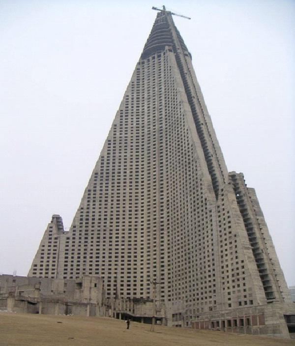 Ryugyong Hotel-Weirdest Hotels In The World