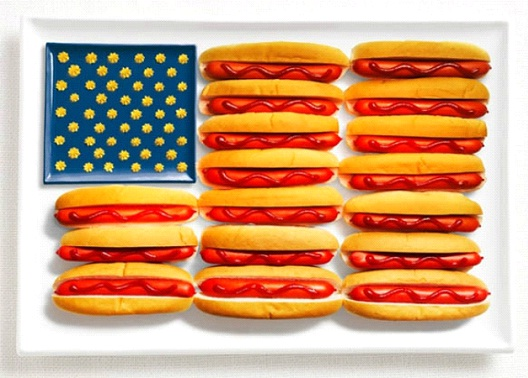 USA-Most Creative Flags Made Out Of Food