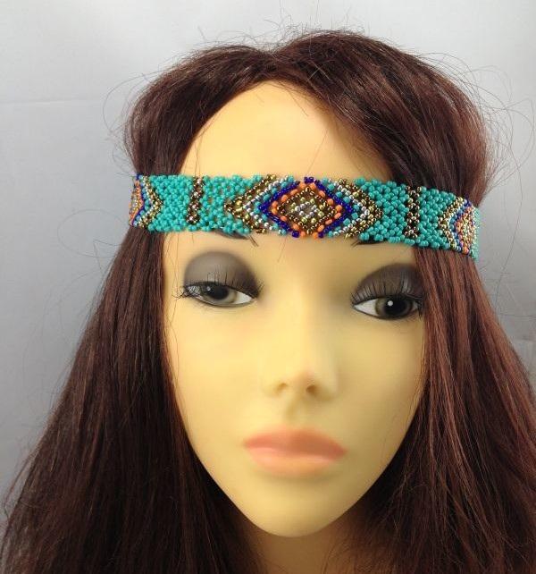 Beaded-Amazing Headbands You Can Make Yourself