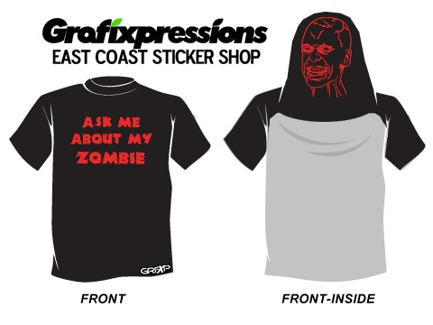 A human like zombie-Best Inside Out T Shirt Designs