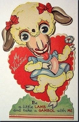Is a lamb wise?-Creepy Valentine's Day Cards