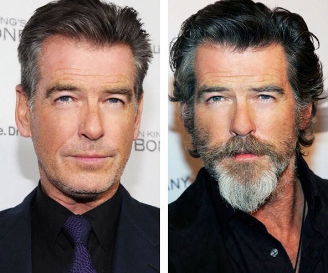 Pierce Brosnan-12 Images That Show A Beard Makes You Look Different