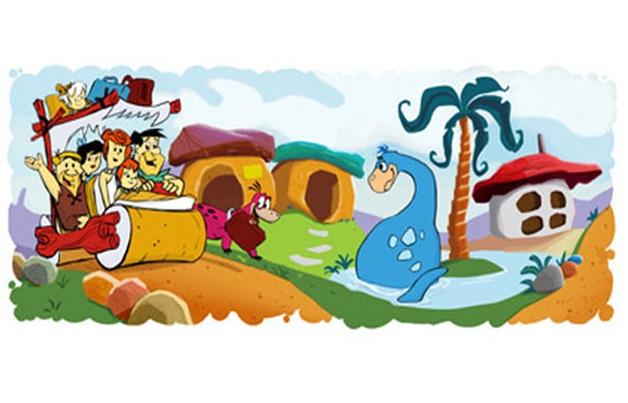 The Flintstones Anniversary Doodle-Amazing Google Doodles