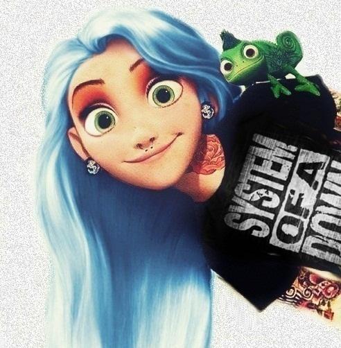Rapunzel-Disney Characters In Punk Look