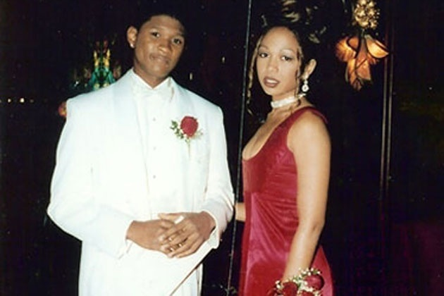 Usher Prom Date Photo-15 Rare Unseen Celebrity Prom Photos
