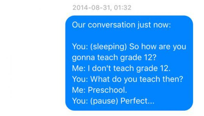 The happy couple-Wife Texts All The Things Her Husband Says In His Sleep(12 Photos)