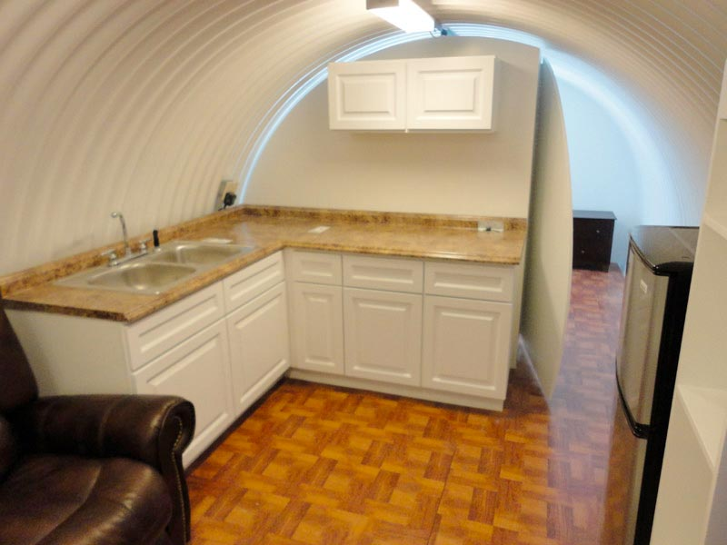 Yes, There's a Kitchen Too-Awesome House Built In An Underground Pothole