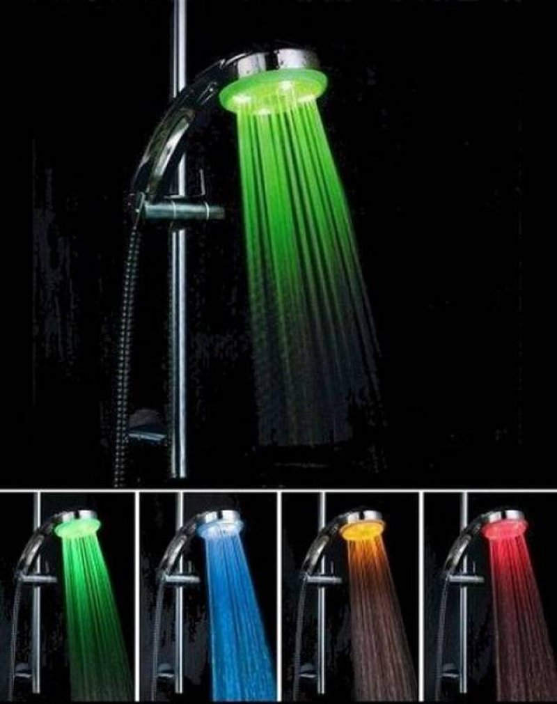 LED Color Changing Shower Head-36 Strangest Gadgets That You Can Buy