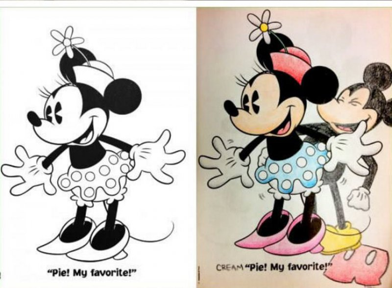 This Time Minnie Mouse -15 Drawings That Show Dads Should Stay Away From Children's Coloring Books