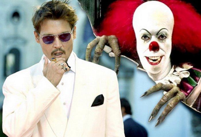 Johnny Depp - Coulrophobia-15 Celebrities With Weird Phobias