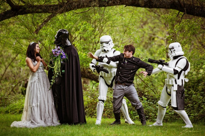 This Star Wars Themed Wedding-15 Most Bizarre Themed Weddings Ever
