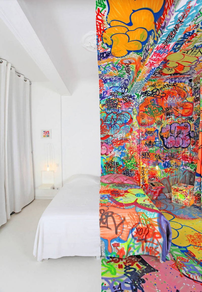 A Half Graffiti Hotel-15 Images That Look Fake, But Are Actually True