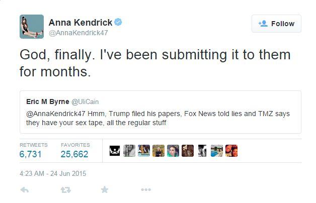 Anna Kendrick Vs. Eric M Byrne-15 Hilarious Twitter Comebacks Ever