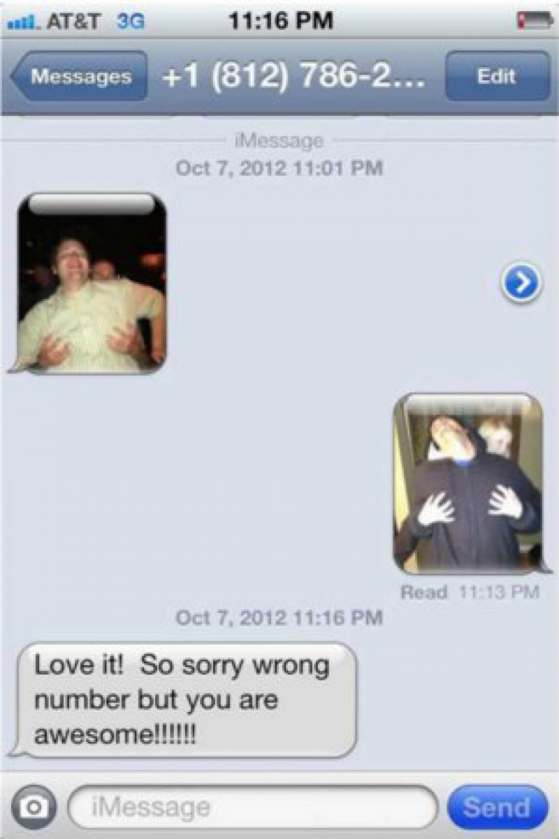 Mimicking a Picture Message from an Unknown Number-15 Hilarious Wrong Number Conversations