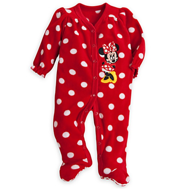Disney's Finest Minnie Mouse Fleece Romper For Baby  $26.95 -Best Newborn Girl Gifts 2015