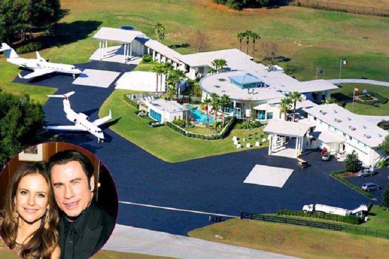 John Travolta-15 Amazing Celebrity Houses That Are Worth Millions