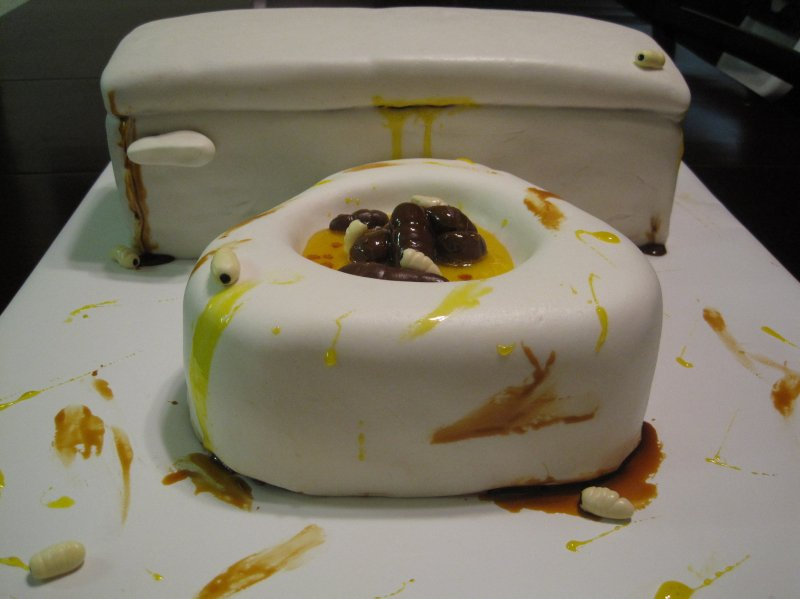 Toilet Cake-15 Most Disgusting Yet Hilarious Cake Fails Ever