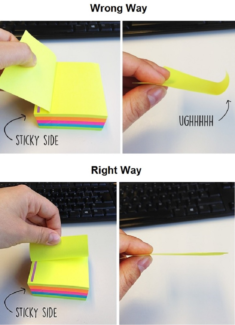 Using Post-Its Wrong Way-15 Things You've Been Doing Wrong Your Entire Life