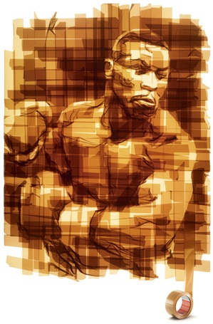 Boxer Packing Tape Art-Amazing Packing Tape Art