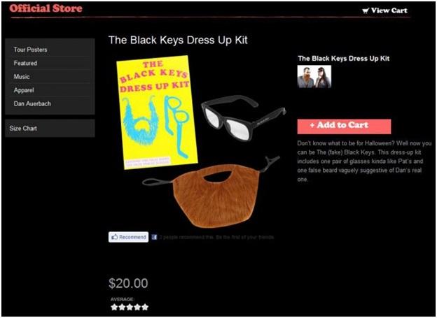 Black Keys Dress-Up Kit-Weird Merch Items You Won't Believe Actually Exist