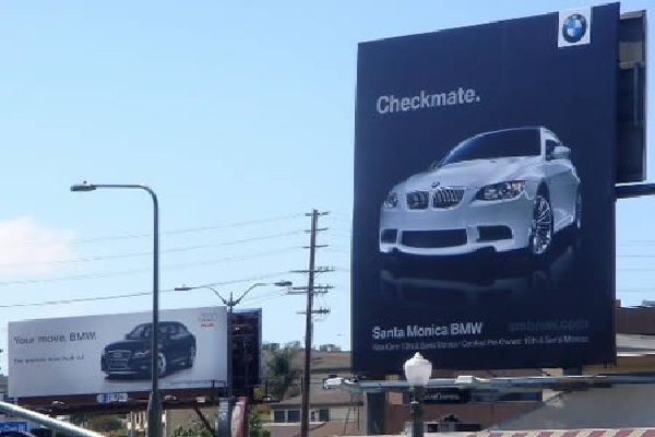 BMW wins-Unexpectedly Hijacked Billboards