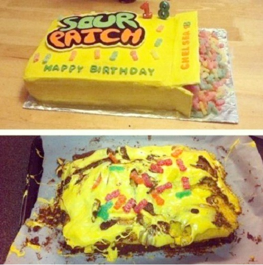 Sour Patch Birthday Cake fail-Hilarious Pinterest Fails