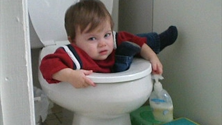 Things won't get stuck in the toilet-Not Being A Parent Can Be Quite Good
