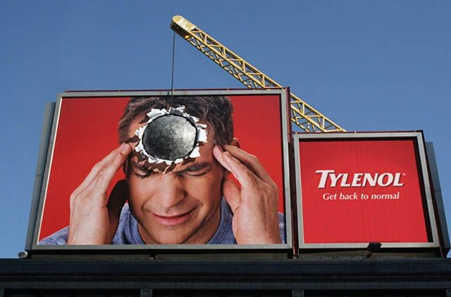 A pain in the head-Brilliantly Clever Billboard Ads