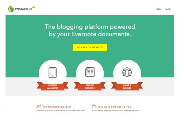 Postach.io-Best Sites To Start A Free Blog