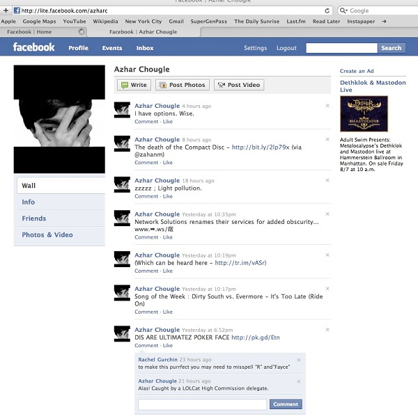 Facebook Lite-12 Pictures That Show Facebook Design Changes Over The Years