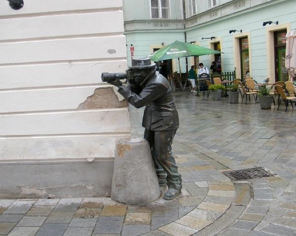 Paparazzi - Bratislava, Slovakia-World's Most Bizarre Statues