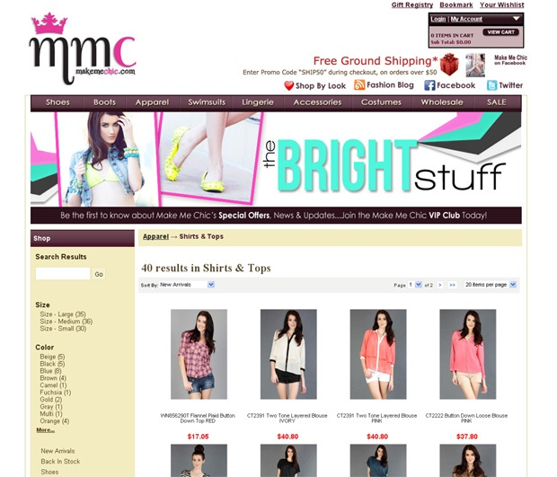Makemechic.com-Cheap Clothing Websites For Women