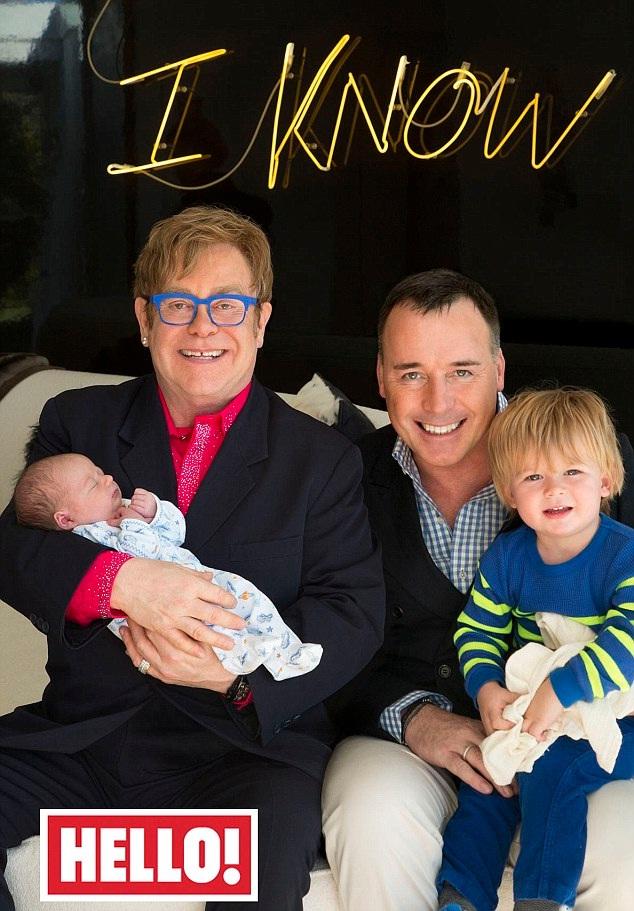 Elton John-Celebrity Babies Born In 2013