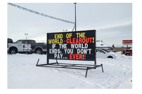 Clearout Sale-Hilarious End Of The World Signs