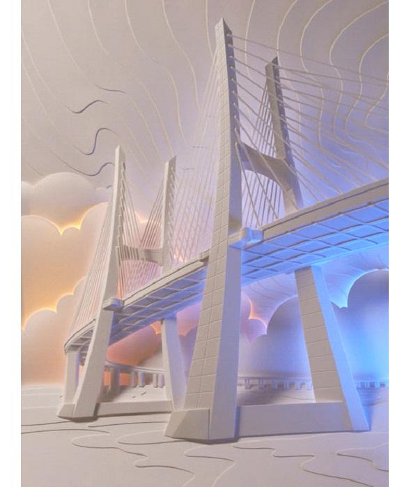 Golden Gate Bridge-Most Amazing Paper Sculptures