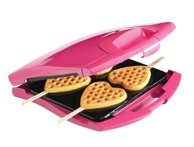 Heart shaped waffles-Inventions That Make Breakfast Fun