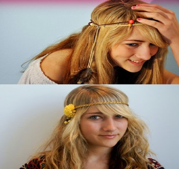 Rope and flowers-Amazing Headbands You Can Make Yourself