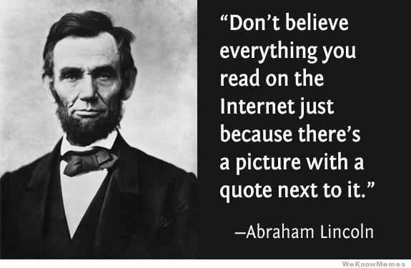 Abraham Lincoln-Celebrities With Wonky Eyes