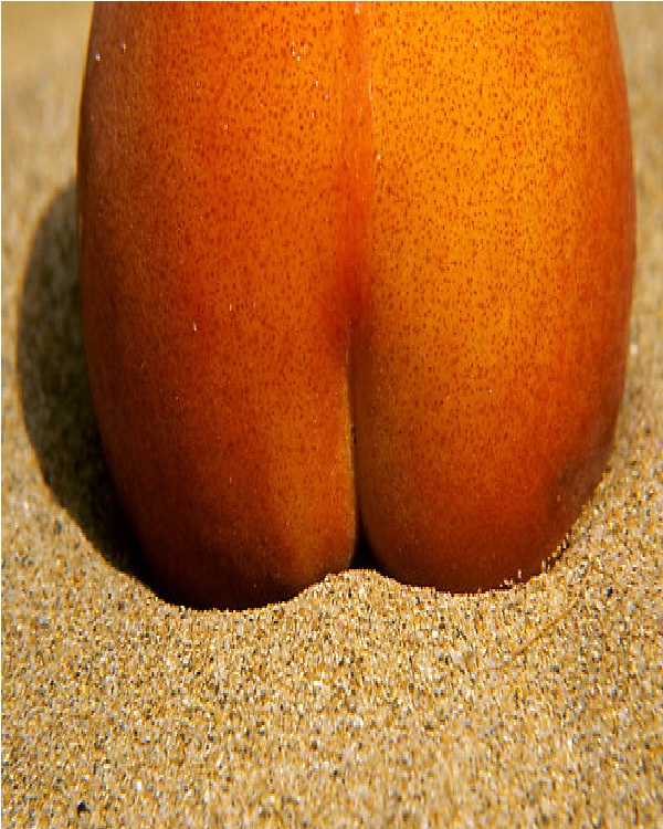 Peach Bum-Top 15 Weirdest Shaped Fruits/vegetables