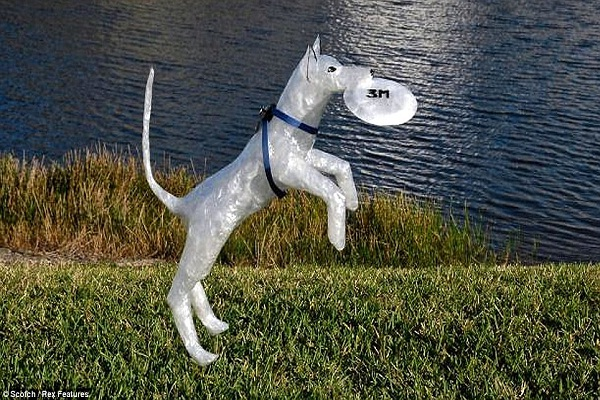 Good boy!!-Amazing Packing Tape Sculptures