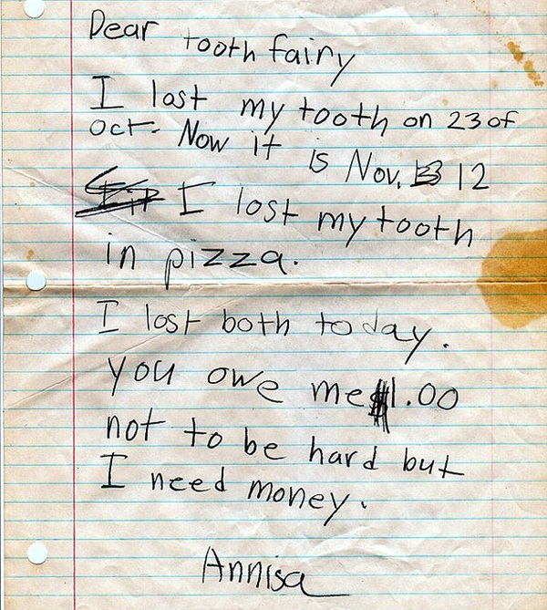 A pleading letter-Hilarious And Honest Notes From Kids