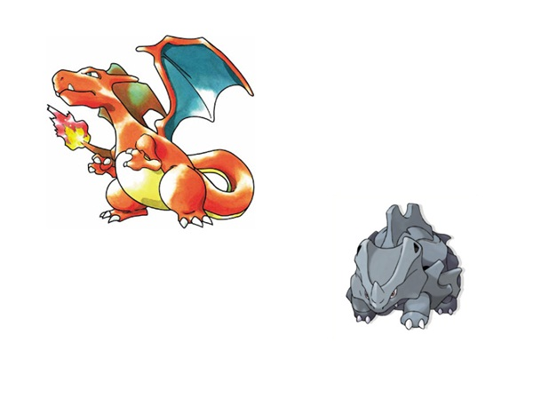 Charizard and Rhyhorn-15 Mind Blowing Facts About Pokémon