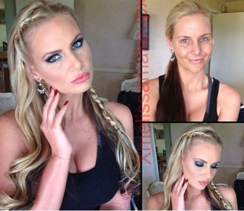 Phoenix Marie-Pornstars With And Without Make Up