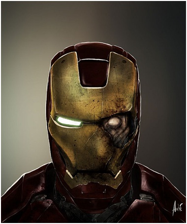 Iron Man Zombie-Zombified Faces Of Famous Cartoons