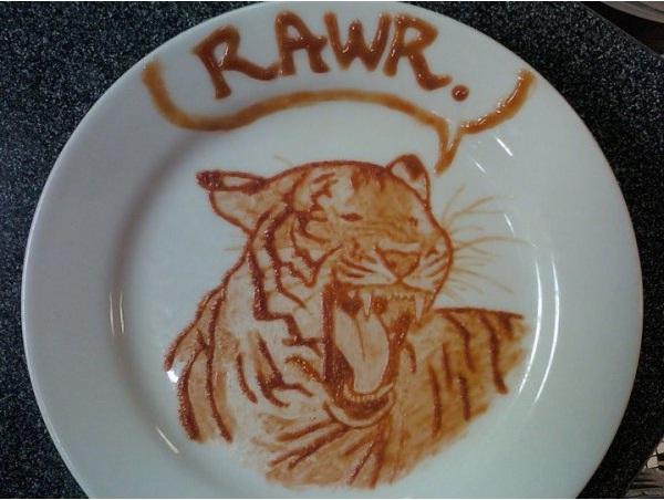 Tiger-Amazing Ketchup Art