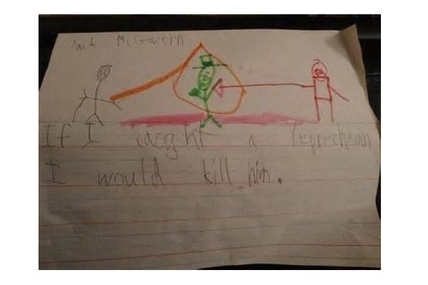 Leprechaun-12 Most Disturbing Drawings By Kids