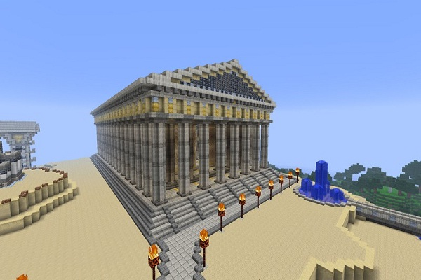 Parthenon-Cool Things To Make In Minecraft