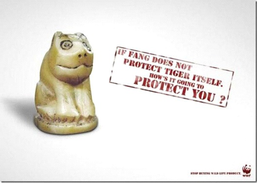 Tiger's Fangs Are For Their Own Protection-24 Creative WWF Ads