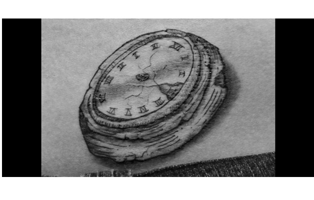 Clock Without Hands Tattoo-Prison Tattoos And Their Meanings