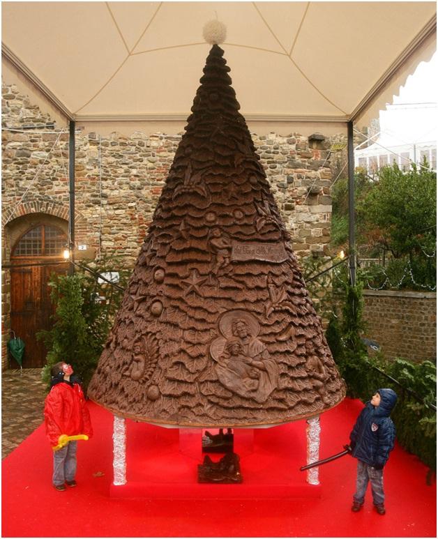 Chocolate Christmas Tree-Most Amazing Christmas Trees From Around The Globe